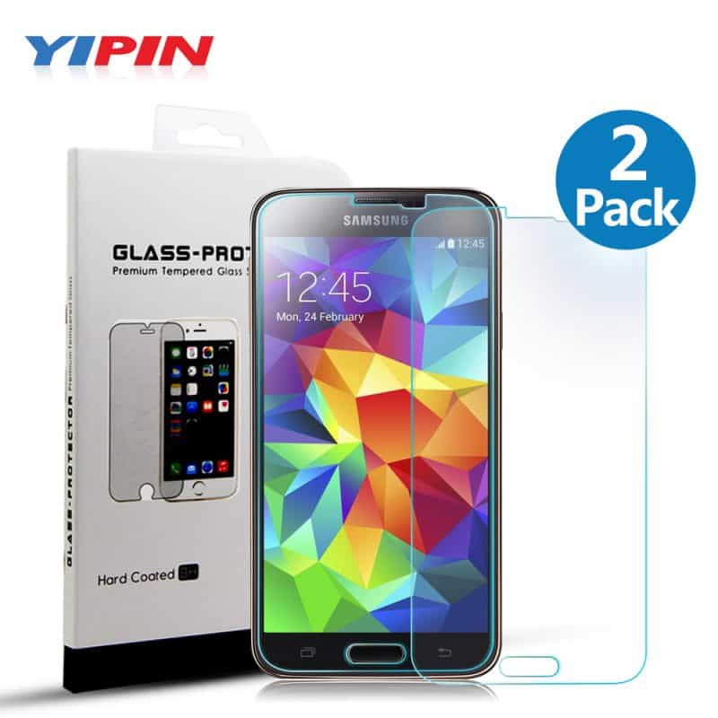 Yipin-S5-Premium-Screen-Protector-Tempered-Glass-for-Samsung-Galaxy-S5-i9600-9H-2-5D-0