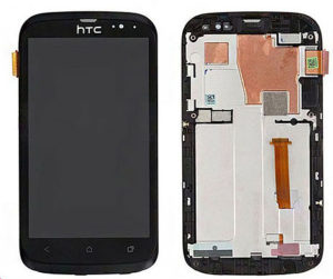 Black-For-HTC-Desire-V-T328w-LCD-Screen-With-Touch-display-Digitizer-frame-Assembly-replacement-free